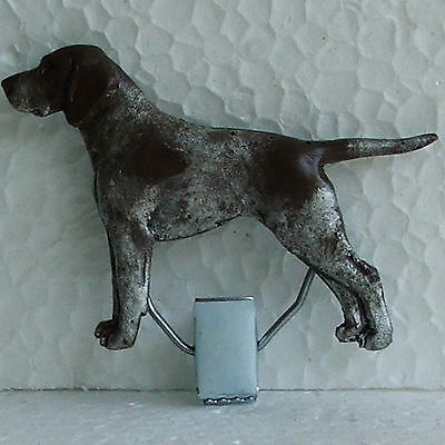 German Shorthaired Pointer Liver GSP Show Ring Clip Dog Breed Jewellery Resin