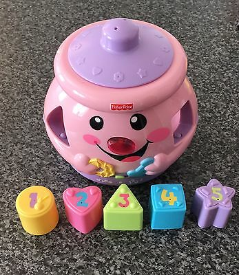 Fisher Price Laugh And Learn Shape Sorter Cookie Jar Pink Baby Toy Nursery
