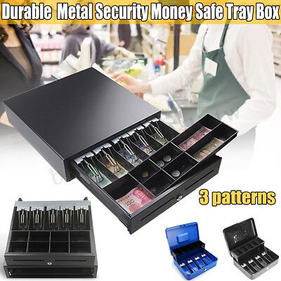 Heavy Duty Electronic Cash Drawer Cash Tidy Register POS 5 Bills 8 Coins Tray AU
