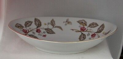 Harvan Fine China Japan ROUND SERVING BOWL red brown floral ANDREA HTF