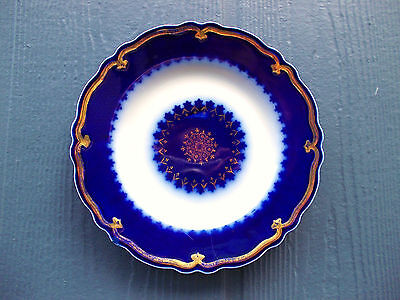Antique Flow Blue Display Plate Marquis Pattern Grindley & Co. England 1906 #01
