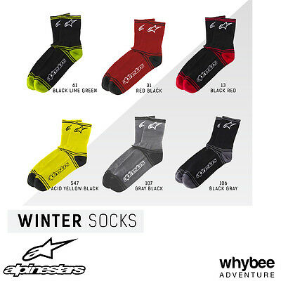 1701014 Alpinestars Winter Socks Black/Grey Grey/Black Adult Sizes