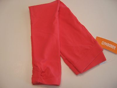 GYMBOREE NWT GIRLS 7 SOLID PINK RED KNIT RUCHING LEGGINGS 7 NEW wow