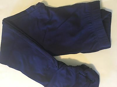 GYMBOREE NWT GIRLS 10-12 SOLID NAVY BLUE KNIT SCRUNCH LEGGINGS 10 12 large L NEW
