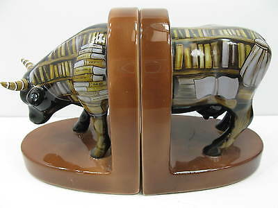 Cow Parade Cow To Book Bookends No. 7412 / 2001 Westland FREE SHIPPING