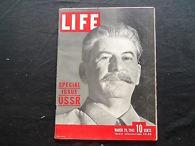 1943 March 29 Life Magazine - Joseph Stalin - L 332