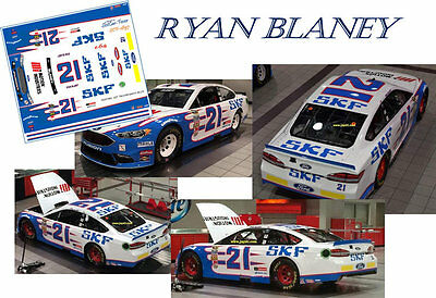 CD_1897 #21 Ryan Blaney   2014 SKF Ford    1:24 scale decals  ~NEW~