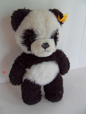 Steiff panda bear small button flag made in Germany 2239