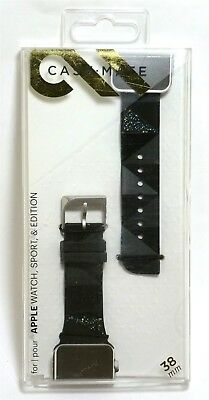 Case-Mate Facets Smartwatch Band (crystal accents) for Apple Watch 38mm - Black