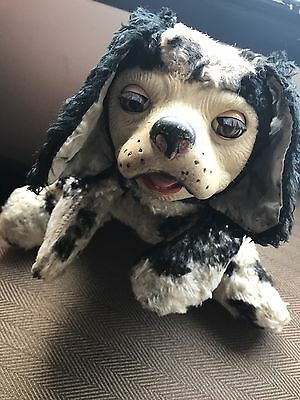 Rare Vintage Rubber Face Sleepy Eye Stuffed Dog Toy