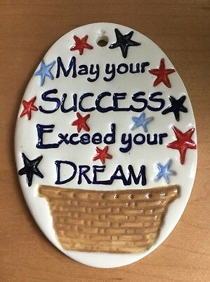 "Longaberger Homestead ""Success Exceed Dream"" Garden Sign / Tie-On - Carol Berry"