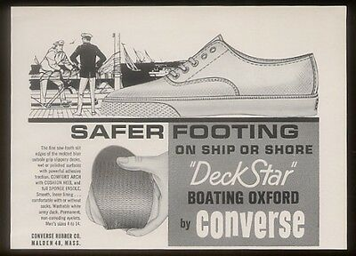 1963 Converse Deck Star boating shoes print ad