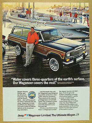 1983 dennis conner photo AMC Jeep Wagoneer Limited vintage print Ad