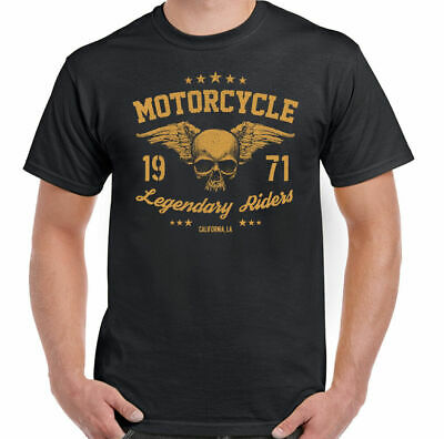 Motorcycle Legendary Riders Mens Biker T-Shirt Motorbike Bike Cafe Racer Custom