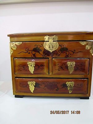 Beautiful,oriental Style,wooden  High Laquer Finish,small Chest