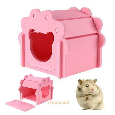 Hamster Rat Hedgehog Wooden Toys Small Animal Warm Comfortable House Cage Nest