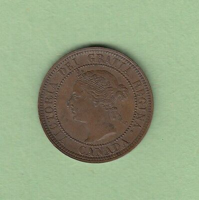 1888 Canadian Large Cent Coin - EF