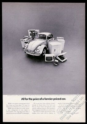 1967 VW Volkswagen Beetle classic car and appliances photo 11x8 print ad