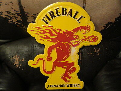 Fireball Cinnamon Whisky Tin Sign 21 x 16  - Brand New