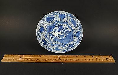 Antique Chinese Ming Wanli Kraak Dish Magpie Auspicious Symbols & Chatter Marks