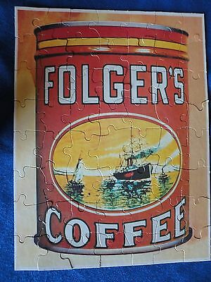 Vintage Folgers Coffee Can Jigsaw  Puzzle