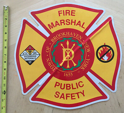 Ny Fire Marshal Public Safety Car Door Shield Decal Brookhaven New York