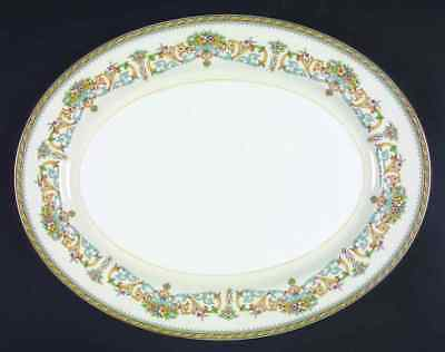 "Aynsley HENLEY (GOLD TRIM) 15 7/8"" Oval Serving Platter 22433"