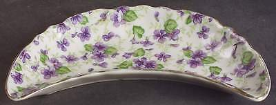 Lefton VIOLET CHINTZ Bone Dish 7722258
