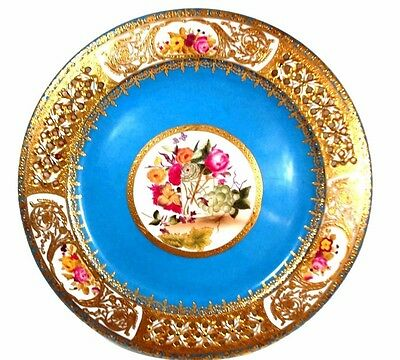 Beautiful Sevres plate heavy gold borders 10 inch in diameter