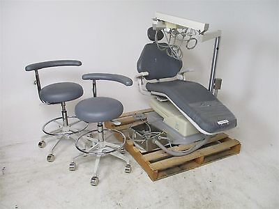 Adec 1020 Dental Chair w/ Delivery System & 2 Assistant Exam Stools