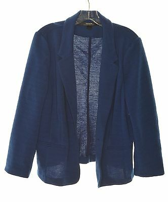 Kensie 0129 Size XS Womens NEW Blue Textured Blazer Jacket Long Sleeve $89