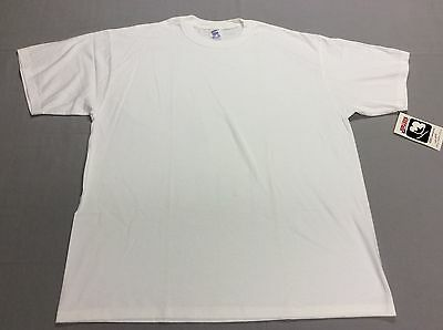 Vintage Jerzees All White Blank Jerzees 100% Cotton Under T-Shirt Mens Xl, New!