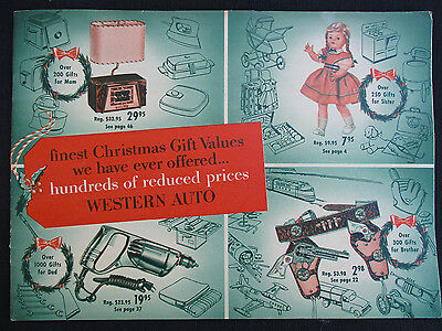 Vintage 1954 Western Auto Christmas Toy Wish Book Catalog Decatur, Texas Tx