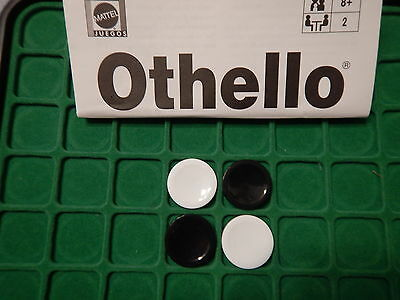 Othello Parts & Pieces Replacement Black & White DISKS: 4 for $2