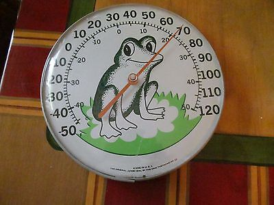 Vintage The Original Jumbo Dial Frog Thermometer By Ohio Thermometer Co.
