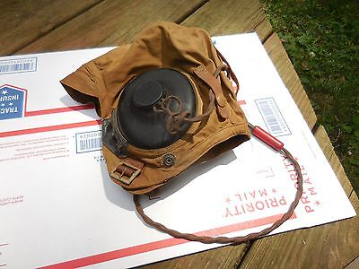 WW2 US Army Air Forces Flying Helmet  AN-H-15 w/ ANB-H-1 Receivers