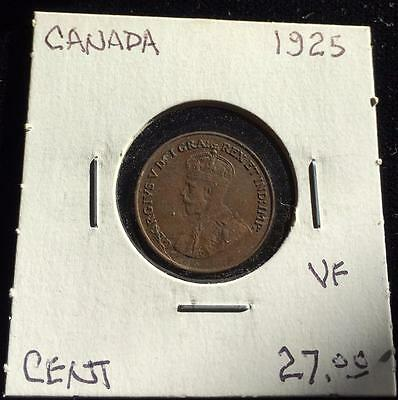 Canada 1925 1 cent VF (RC1517)