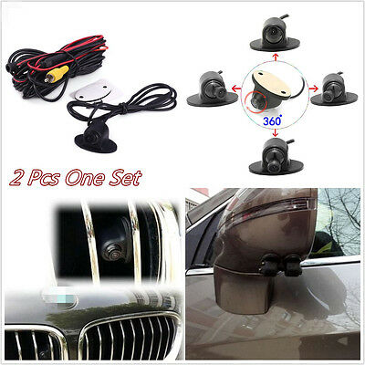 One Pair Car 170° View 360° Rotatable Front/Sides/Rear Reverse Parking HD Camera