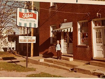 Fike's Ice Cream Sign-Miller's Village Grocery Photo