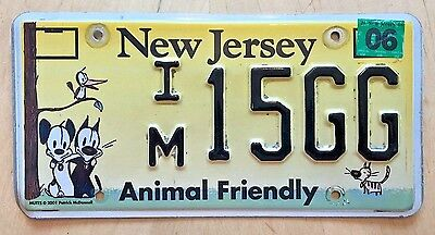 "New Jersey Animal Friendly Plate ""im 15 Gg "" Dog Cat Dogs Cats Pets  Nj"