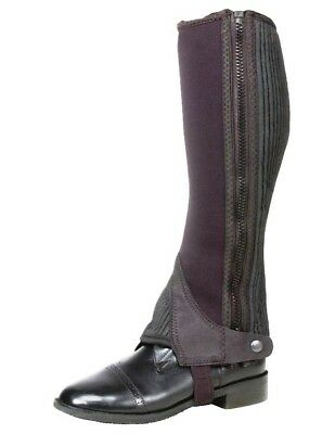 Tough-1 Half Chaps Womens Neoprene English Chaps S Black 63-68