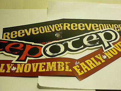 6 Stickers Promo Band Music Sticker Reeve Oliver Otep Early November Promotional