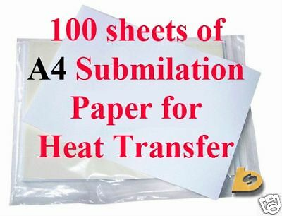 100 A4 Premium High Release Dye Sublimation Paper For Epson Sublimation Ink