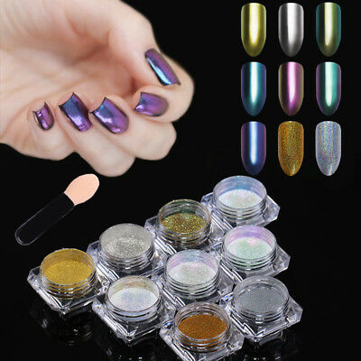 Holographic Chameleon Glitter Powder Nail Art Chrome Mirror  Pigment Born Pretty