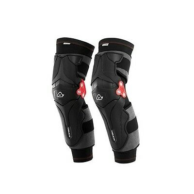 Acerbis Adults X-Strong MX Motocross Enduro Knee Guards Brace - Black Pair