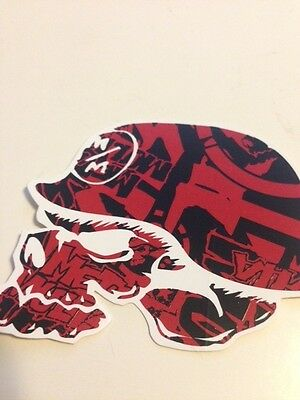 """5 Metal Mulisha Red And Black 3"""" Helmet Promotional Promo Stickers Motorcycle"""