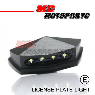 Universal Small Emark Aluminum White LED Motorcycle License Plate Lights