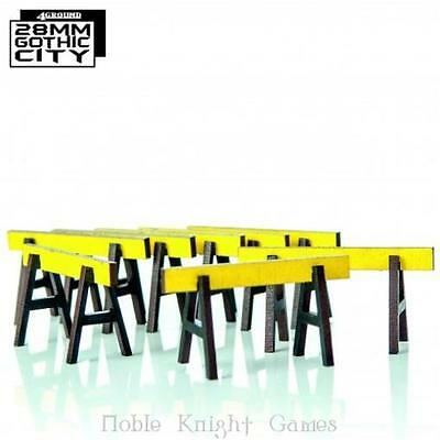 4Ground 28mm Gothic City Barriers (Pre-Painted) Pack MINT