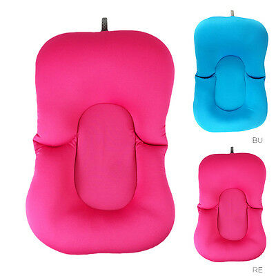 Baby Tub Pad Pillow Bath Lounger Air Cushion Floating Soft Seat Infant Safety