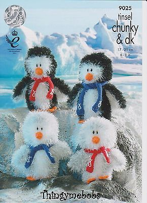 King Cole 9025 Christmas Tinsel Penguins Original Knitting Pattern